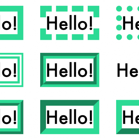 How to set size and borders in css